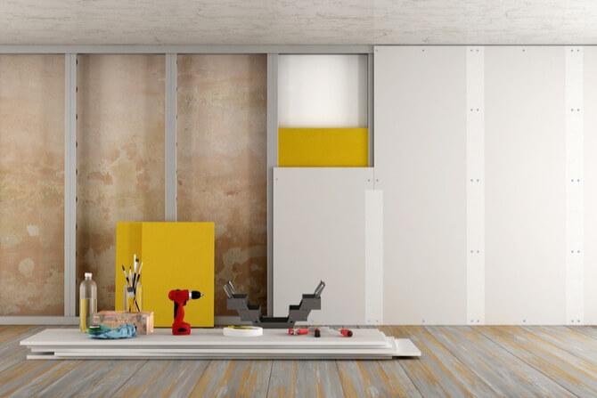 Gipso kartono montavimas ant sienos